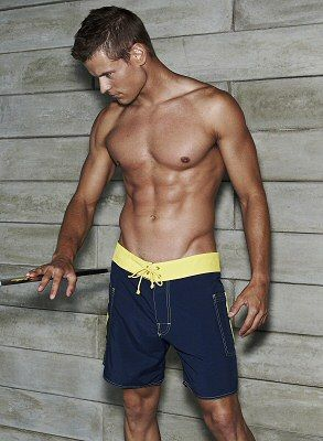 02a5946342 I'll take one of these...AND the swimsuit! Sauvage Swimwear for Men Banded  Pocket