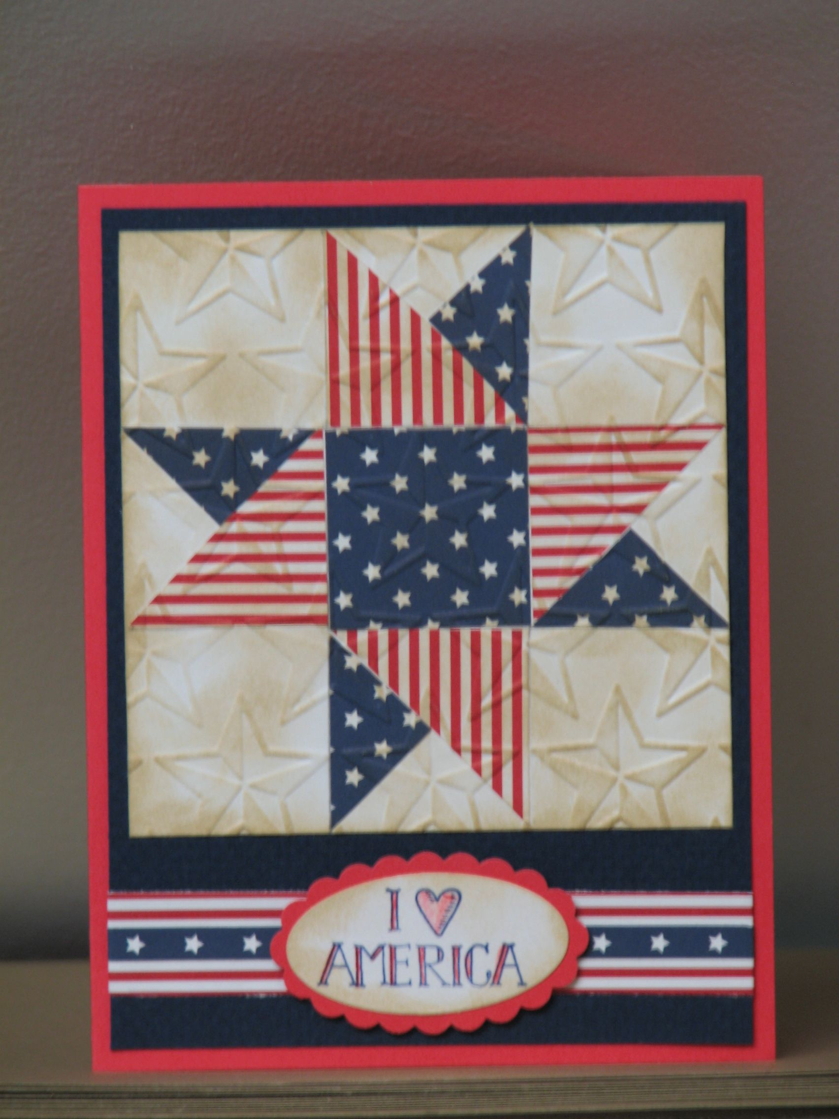4th of july card  deign idea from pinterest  made by casey