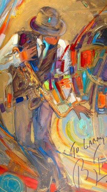 I M At A Jazz Concert I Am Not Allowed To Take Flash Photographs But I Can See Well Enough To Draw This Painting Is From Jazz Artwork Musical Art Guitar Art