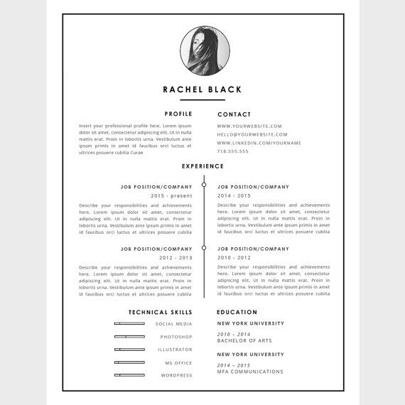 modern resume template   cover letter template for word
