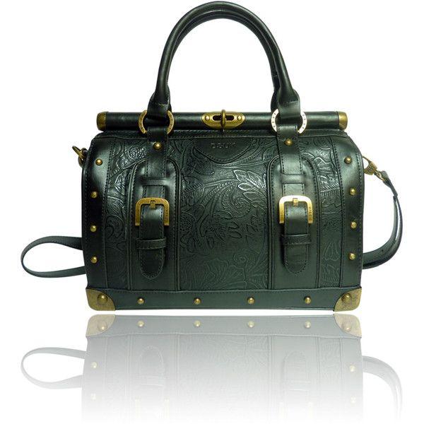 e0ae296cf91 The Aurora Bag Flower Embossed Bowler Bag by DSUK in Black   LYDC ...