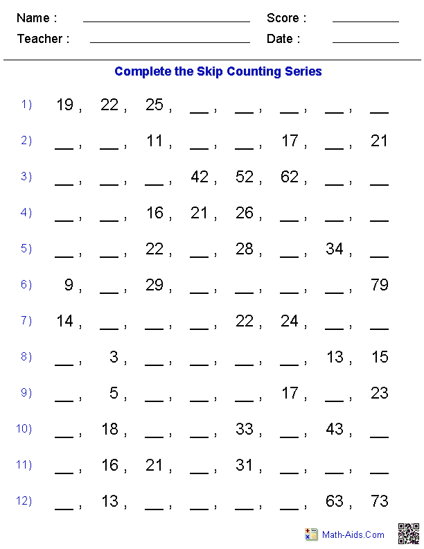 website with tons of free math work sheets that can be customized ...