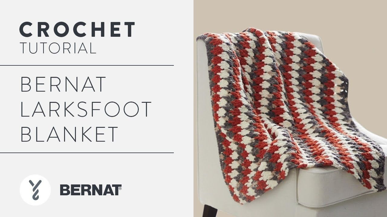 Bernat Larksfoot Blanket | Crochet | Pinterest