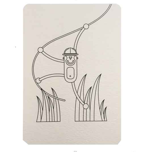 Carte postale à colorier Jungle, collection Monde, Wistiworld | Baby Prestige