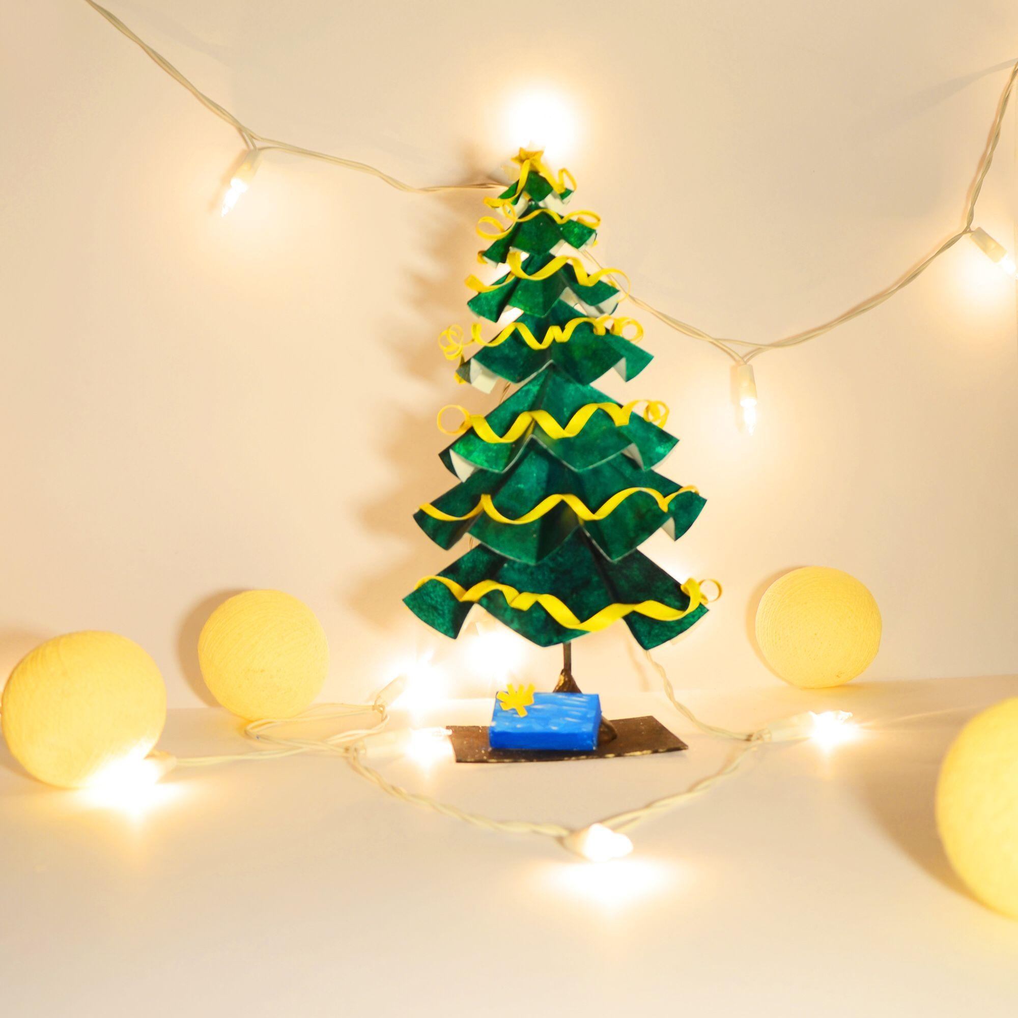 We wish you a merry christmas :)  DIY christmas tree