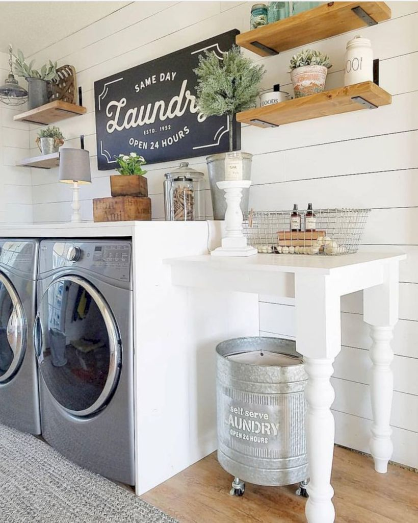 Inspiration For Farmhouse Laundry Room Decoration Ideas 07