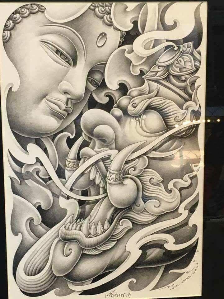 Pin de Tun Anh Nguyn en V Pinterest Tatuajes Budas y Ideas