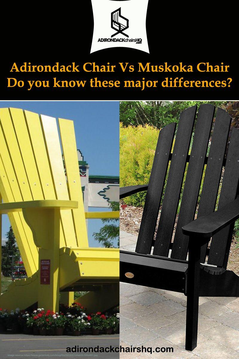 Faceoff Adirondack Chair Vs Muskoka Chair which is
