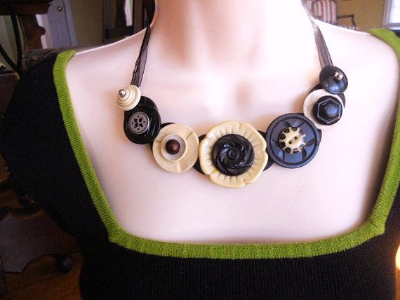 Grand Slam Gorgeous Button Necklace by lastingattachments on Etsy, $40.00