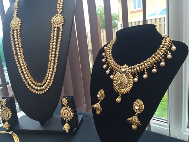 New Indian Bollywood Costume Jewellery Necklace Earring Set Gold BridalWe Have A Vast Collection
