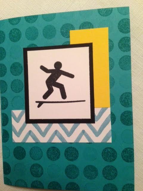 Cool surfer stamp