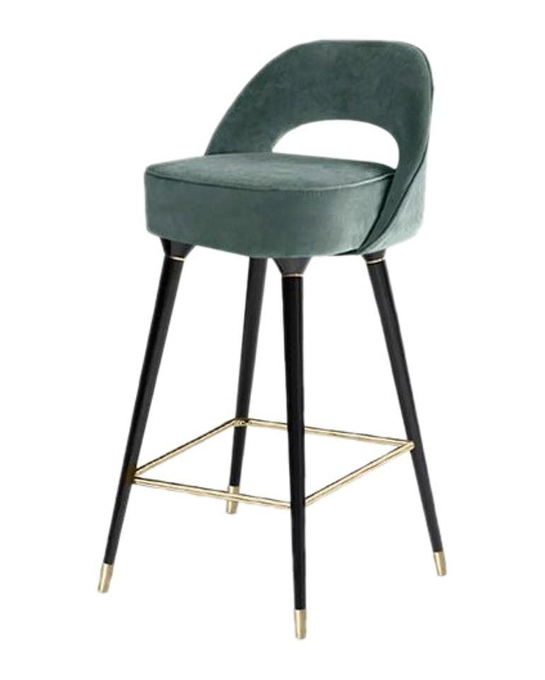 Collins Bar Chair Contemporary Midcentury Modern Transitional Lacquer Metal Upholstery Fabric Wood Barstools Bar Chairs Modern Bar Stools Bar Stools