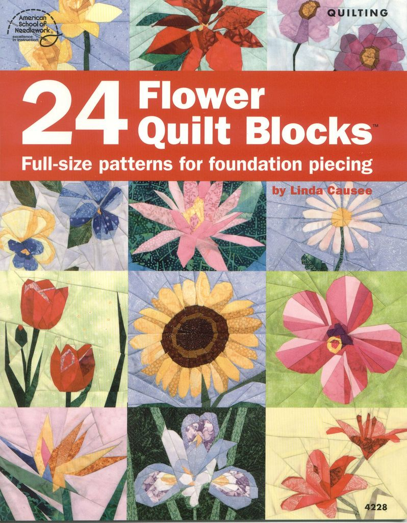 Fondation Flower Quilts Paper Piecing And Patchwork