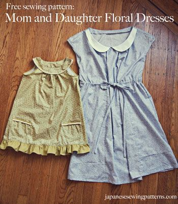 Free Japanese Sewing Pattern In English Floral Dress For Mother