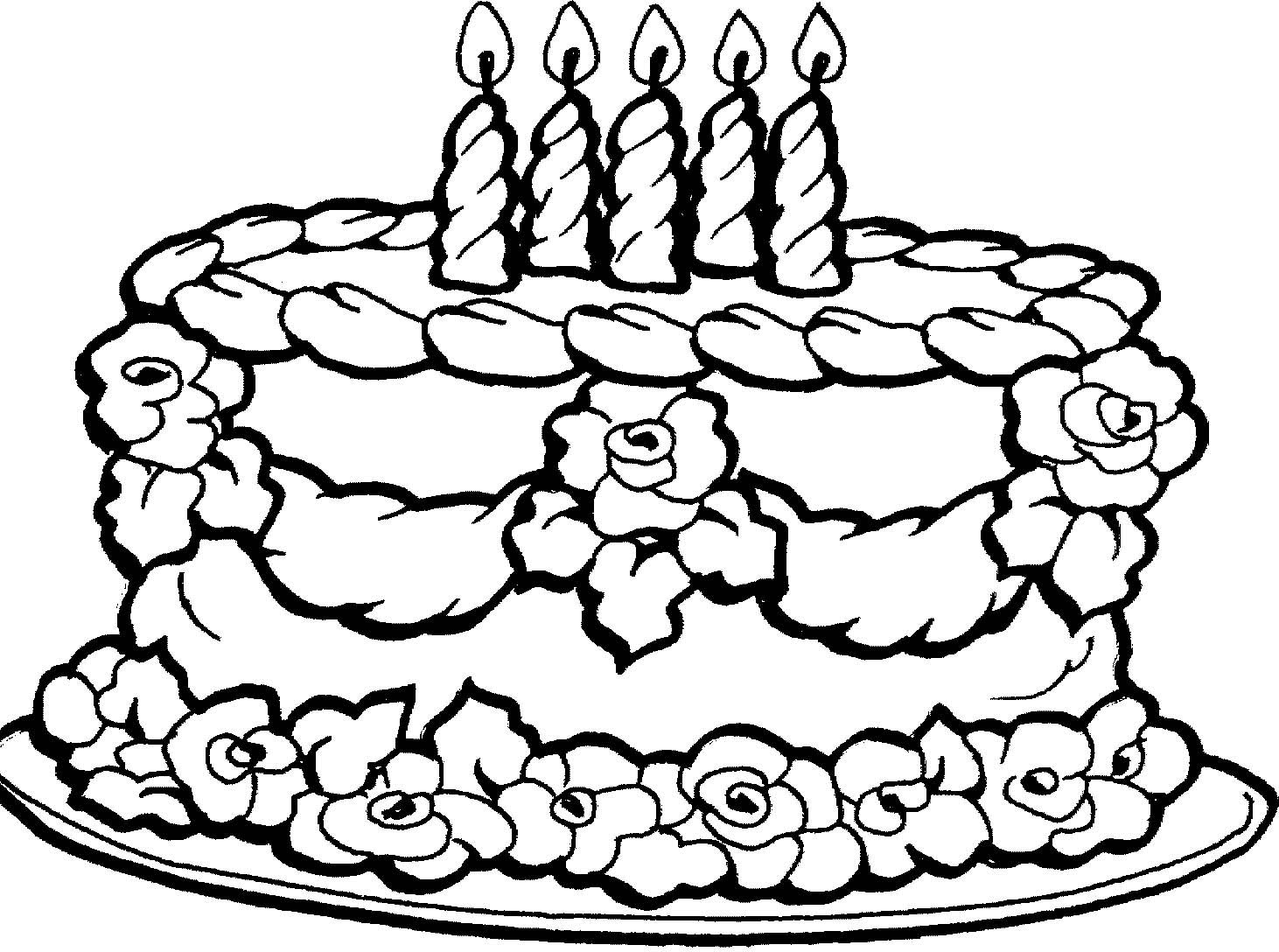 Birthday Cake Coloring Pages With Images Cupcake Coloring