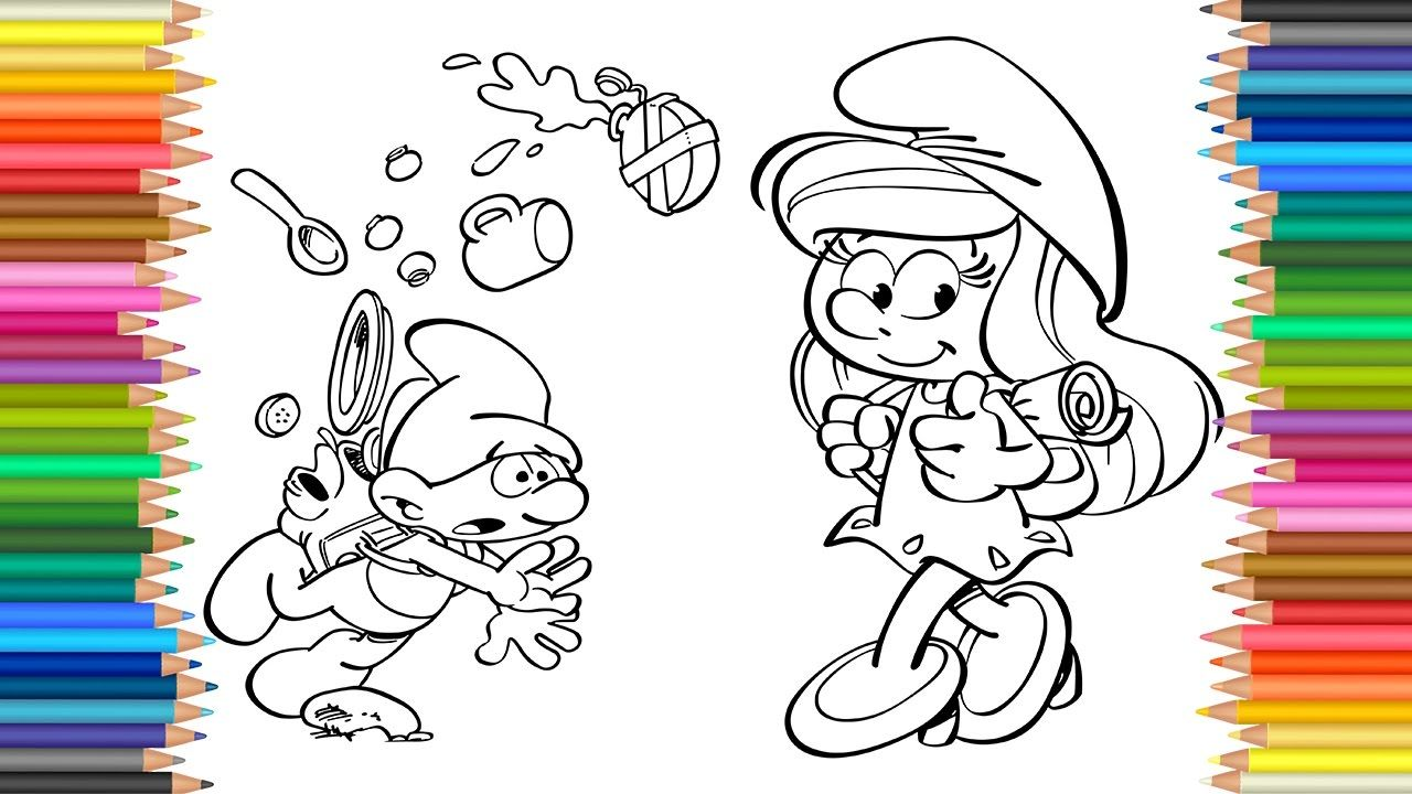 The Smurfs Coloring Book Pages L How To Draw And Color Art Colors For