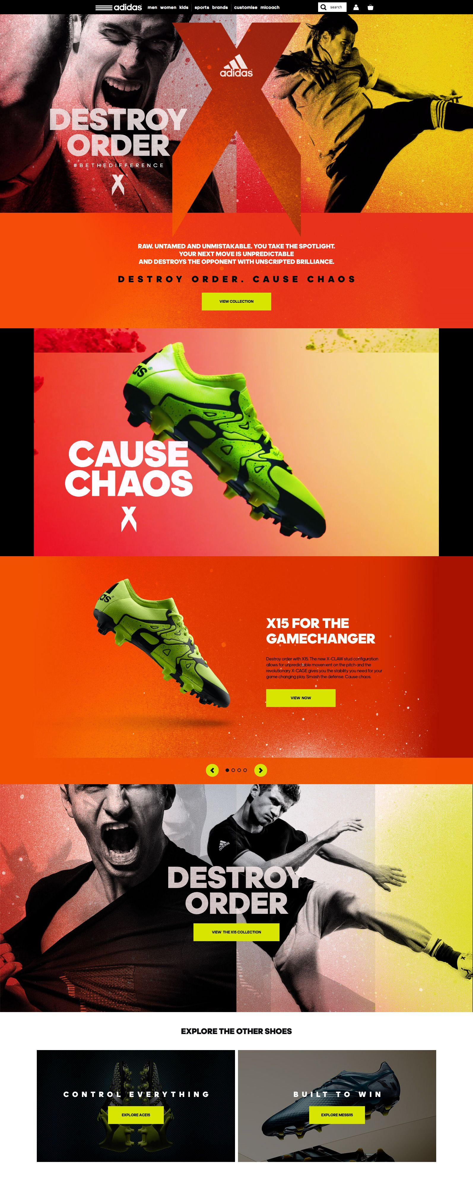 Adidas. Cause some chaos. (More design inspiration at www