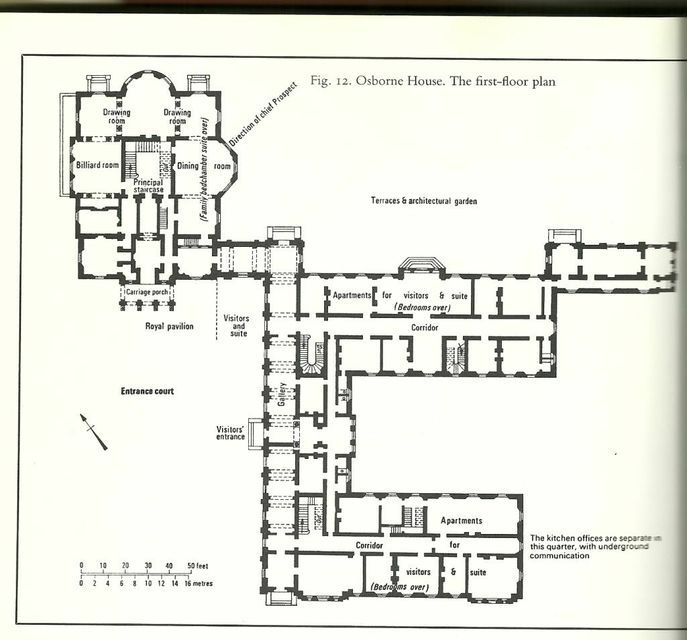 Floor plan of Osborne House. | Osborne House | Pinterest | House ...
