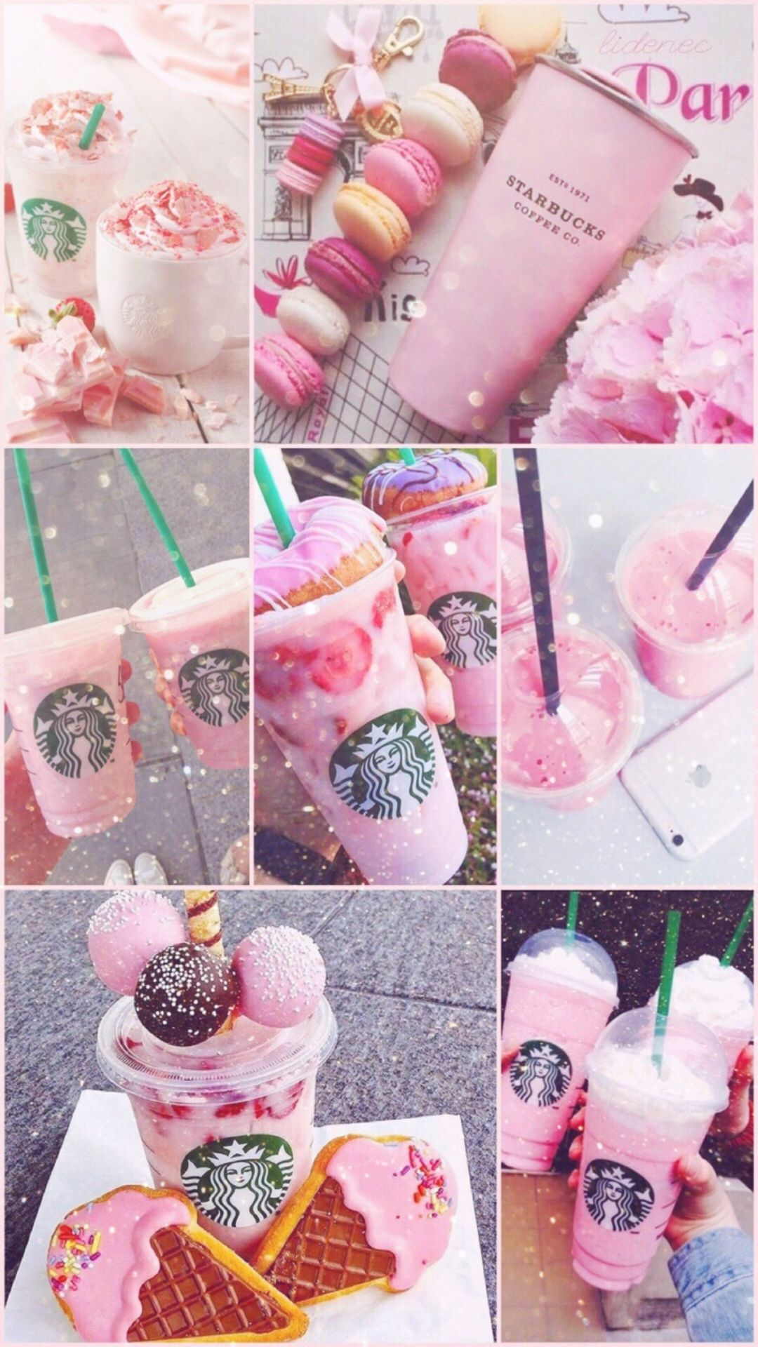 A Picture From Kefir Https Kefirapp Com W 2366140 Starbucks Wallpaper Pink Drinks Starbucks Drinks Recipes