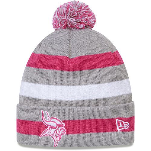 pretty nice 95a90 a11ae Men's New Era Minnesota Vikings Breast Cancer Awareness via ...