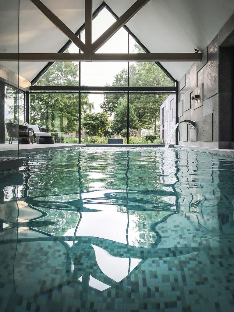 Wellness Met Binnenzwembad Medie Interieurarchitectuur Dream Pool Indoor Indoor Pool House Indoor Pool Design