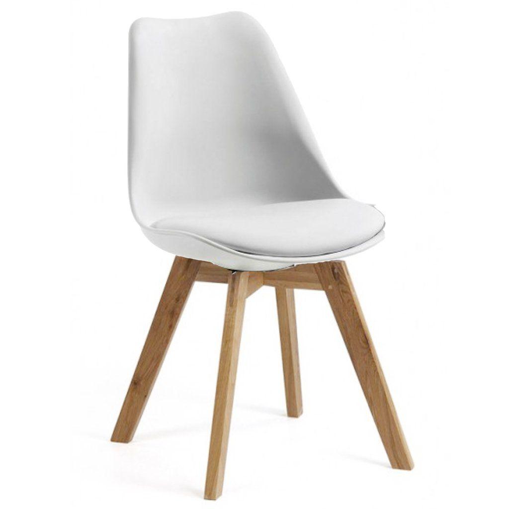 Silla Tulip Base Madera (Blanco)   ARG- sillas sillones banquetas ...