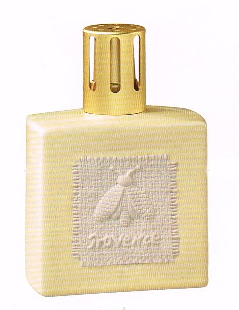 The BEE an iconic symbol of French royalty.  This Lampe Berger # 3984 was only sold in 2009 - rare, indeed.  Provence Ivory is a soft ivory tone with a linen look patch on the front and back.