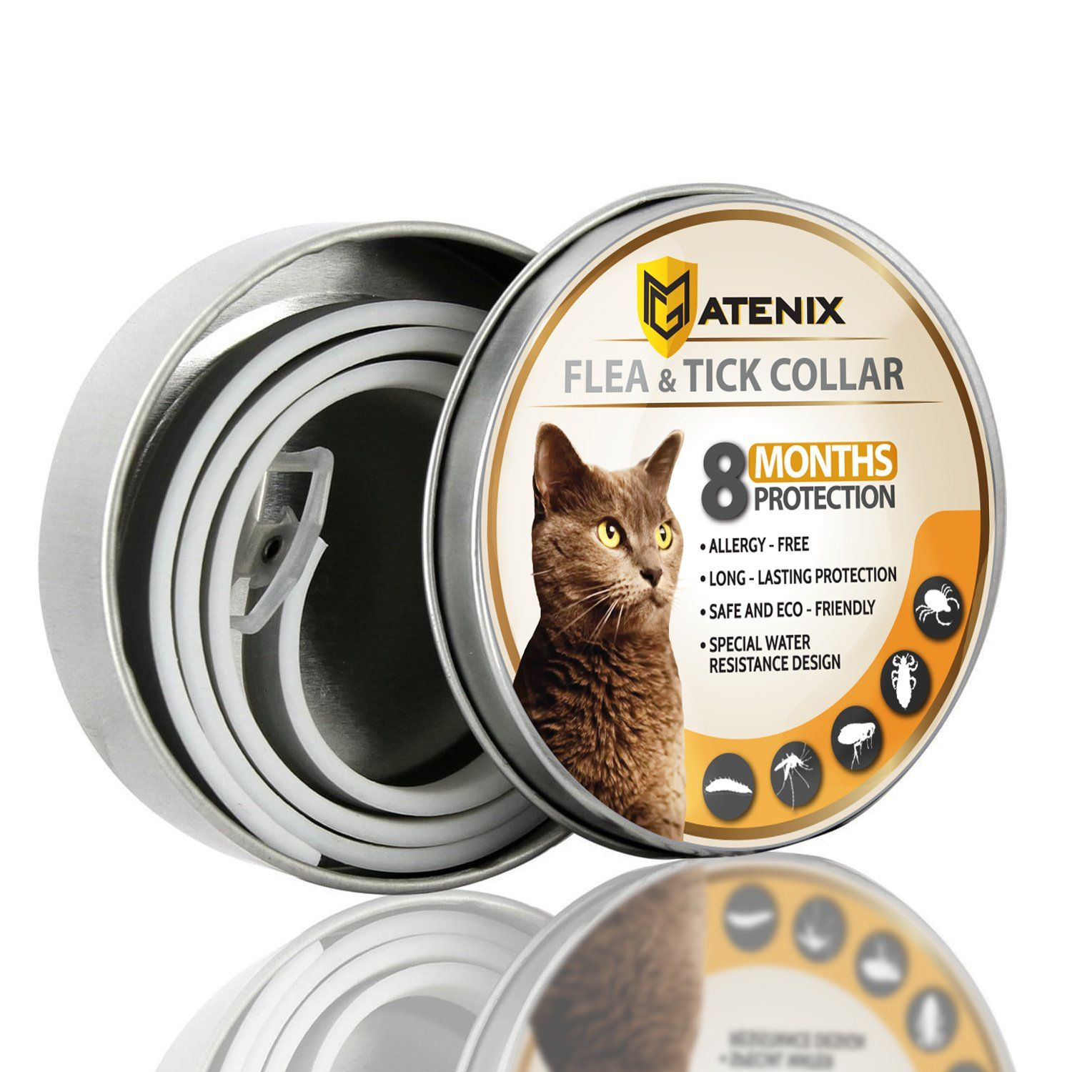Matenix Flea And Tick Prevention Collar For Cat Best Flea Collar Repellent 8 Month Protection Environment Friendly With Fully Na Tick Prevention Fleas Ticks