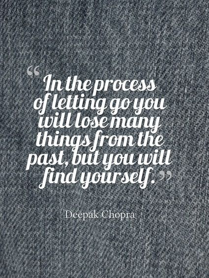 Wonderful The Process Of Letting Go