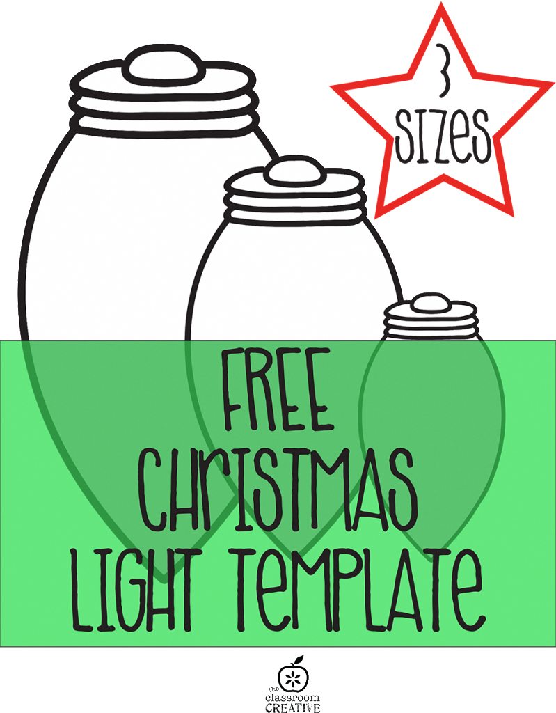 Free Printable Christmas Light Template Christmaslightdecorations