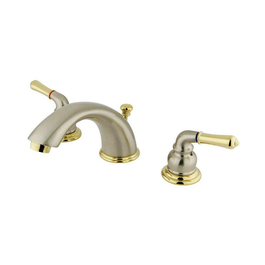 Elements Of Design Satin Nickel/Polished Brass 2-Handle Widespread ...
