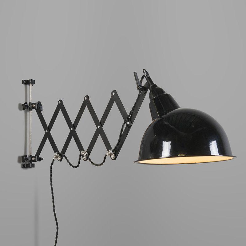 wandleuchte stretch schwarz mit harmonika aufh ngung wandleuchten beleuchtung lampen und. Black Bedroom Furniture Sets. Home Design Ideas
