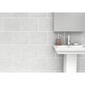 Wickes Richmond Grey Ceramic Wall Tile 360x275mm