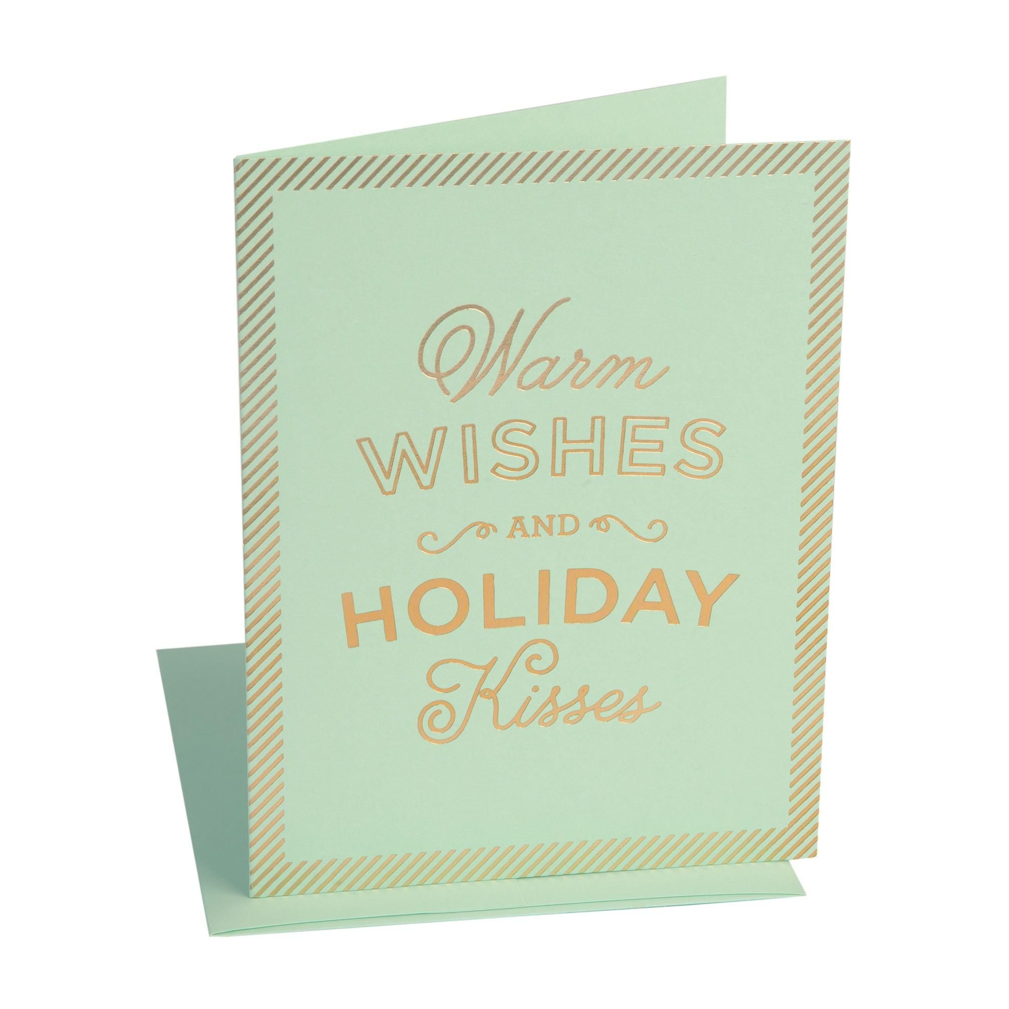 Warm Wishes Holiday Kisses Cards Set Of 6 Social Type Paper