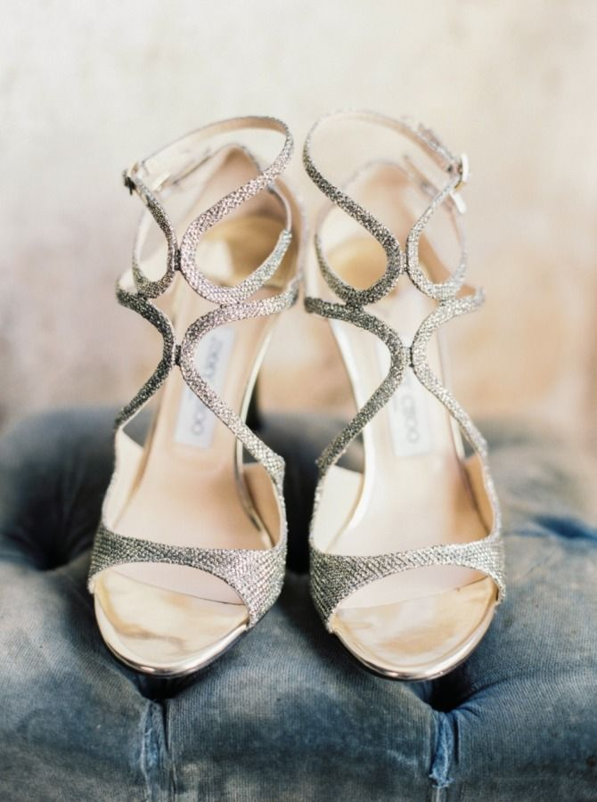 Strappy silver shoes: http://www.stylemepretty.com/vault/search/images/silver