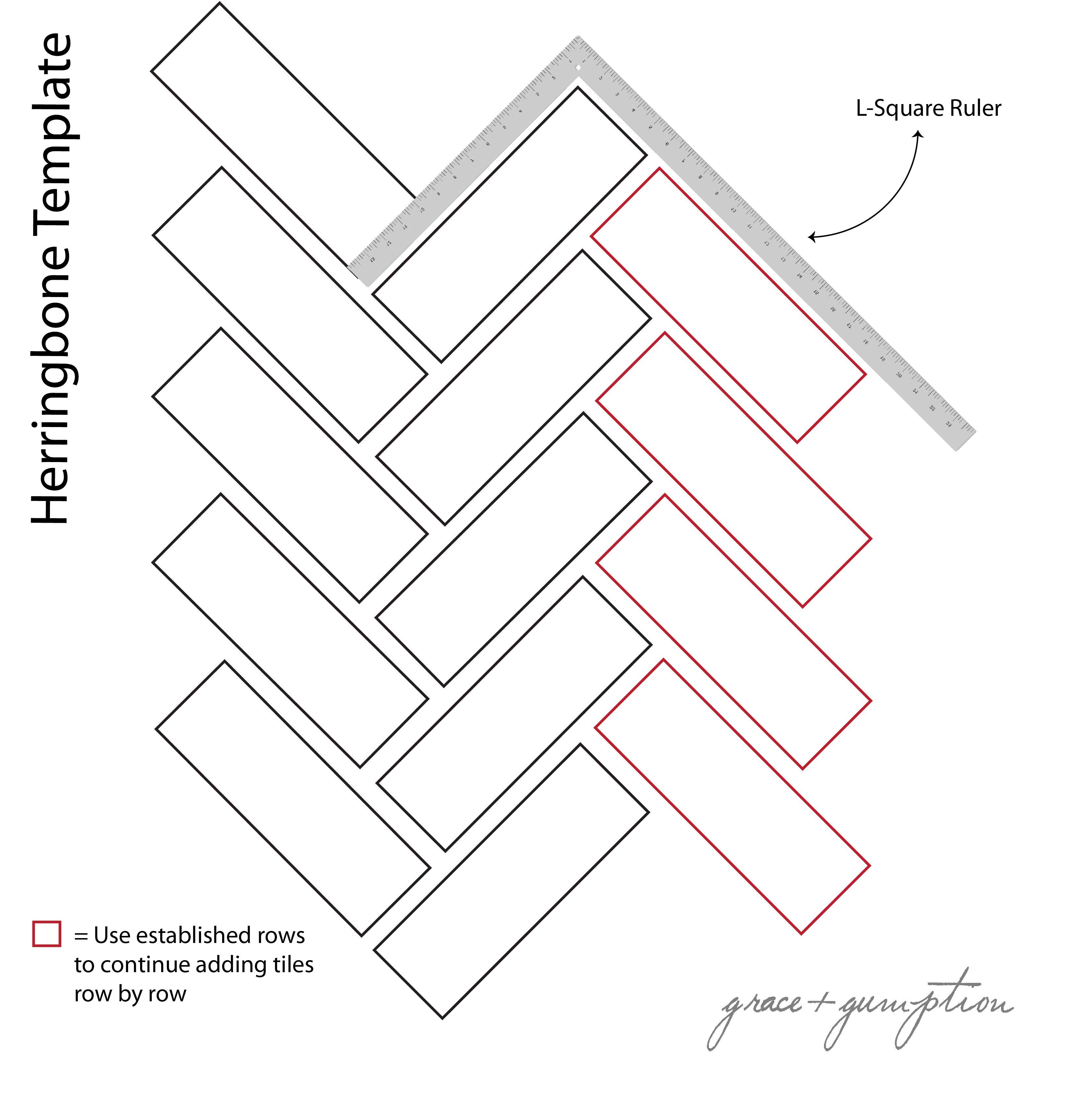 Diy Herringbone Peel N Stick Tile Floor Grace Gumption Herringbone Tile Floors Herringbone Tile Tile Countertops Diy