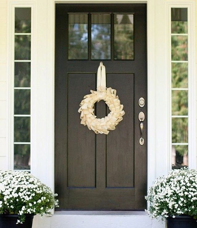 white craftsman front door. craftsman front door black with wreath white f
