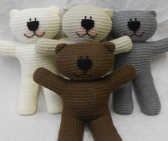 Wooly Crew Teddy Bear Knitting Pattern Pdf Knitit Pinterest