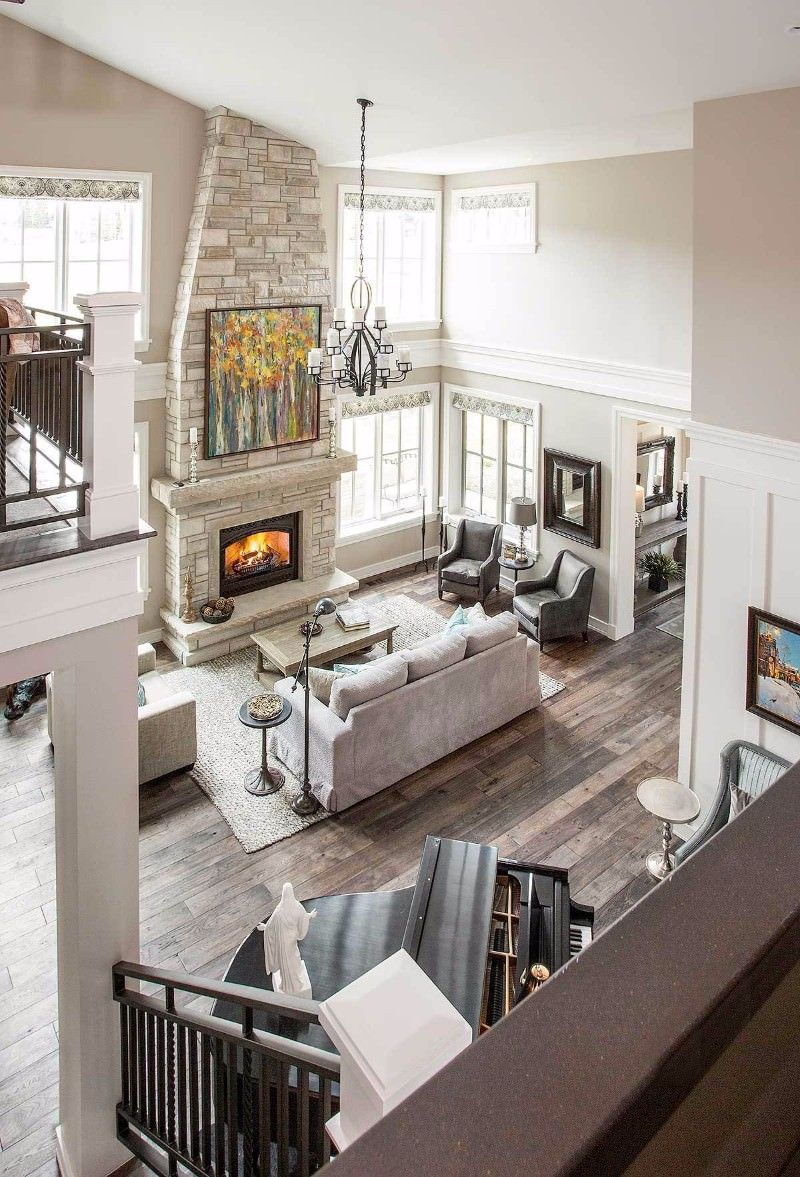 54 Awesome Big Living Room Design Ideas With Stairs Round