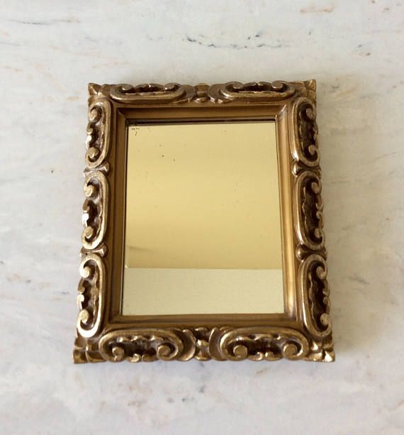 Vintage Gold Small Mirror Statement Wall Decor French | Product ...