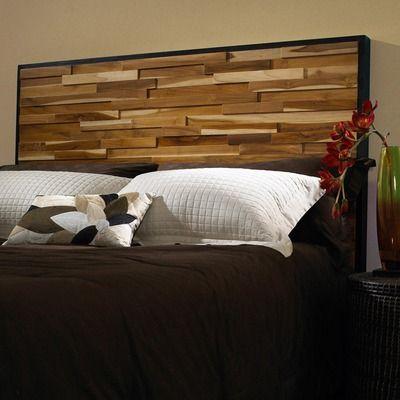 Buy Reclaimed Wood Panel Headboard Size: King