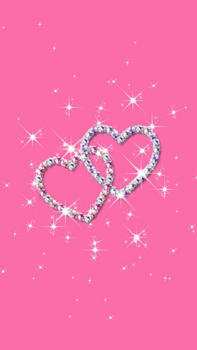Pink And Silver Sparkly Heart Wallpaper Bling Wallpaper Love Wallpaper