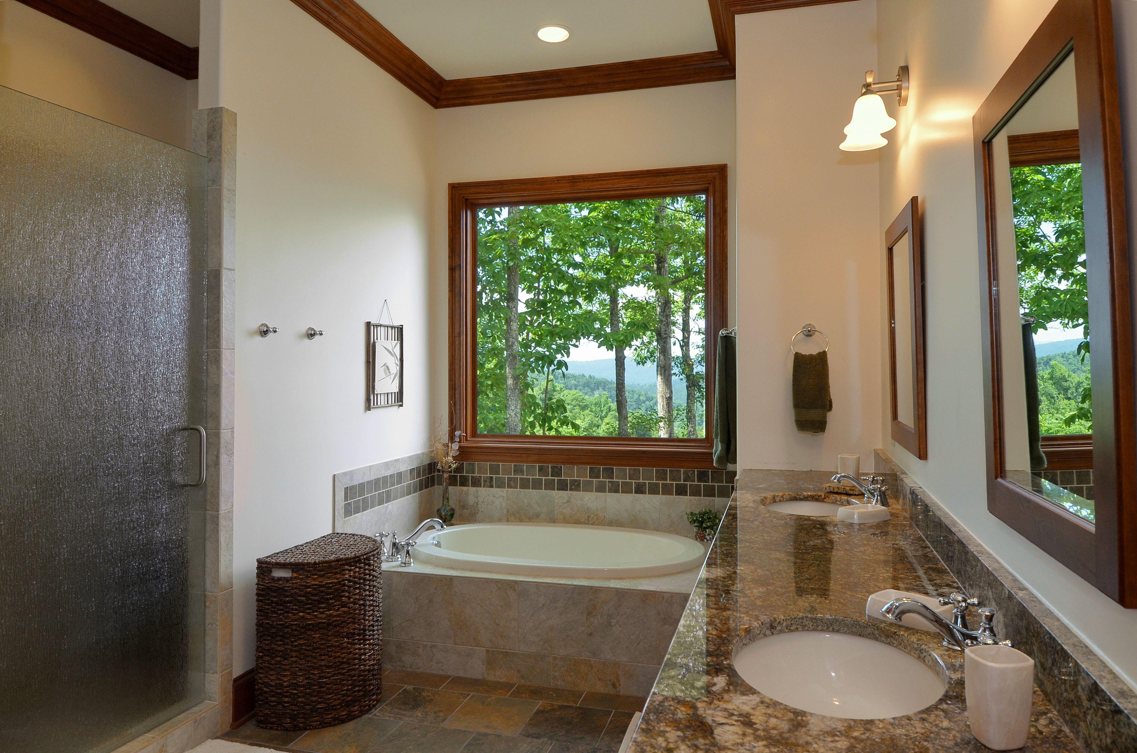 Mountain rustic luxury w gorgeous mountain views for Bath remodel asheville nc