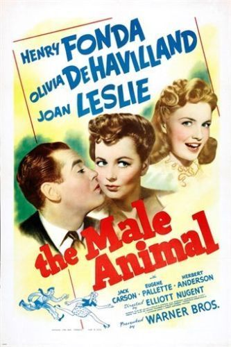 OLIVIA DEHAVILLAND henry fonda THE MALE ANIMAL classic movie poster 24X36