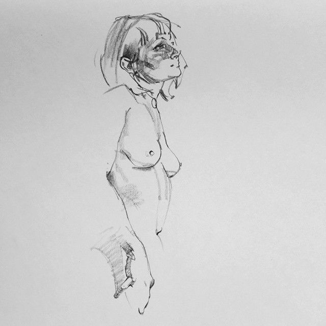 Another 10 minute drawing from arena net life drawing class yesterday art drawing