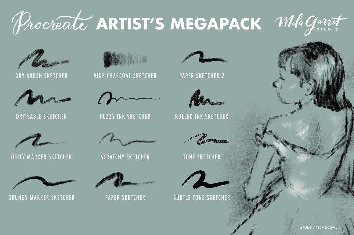 Procreate Brushes Artist's Megapack Procreate brushes