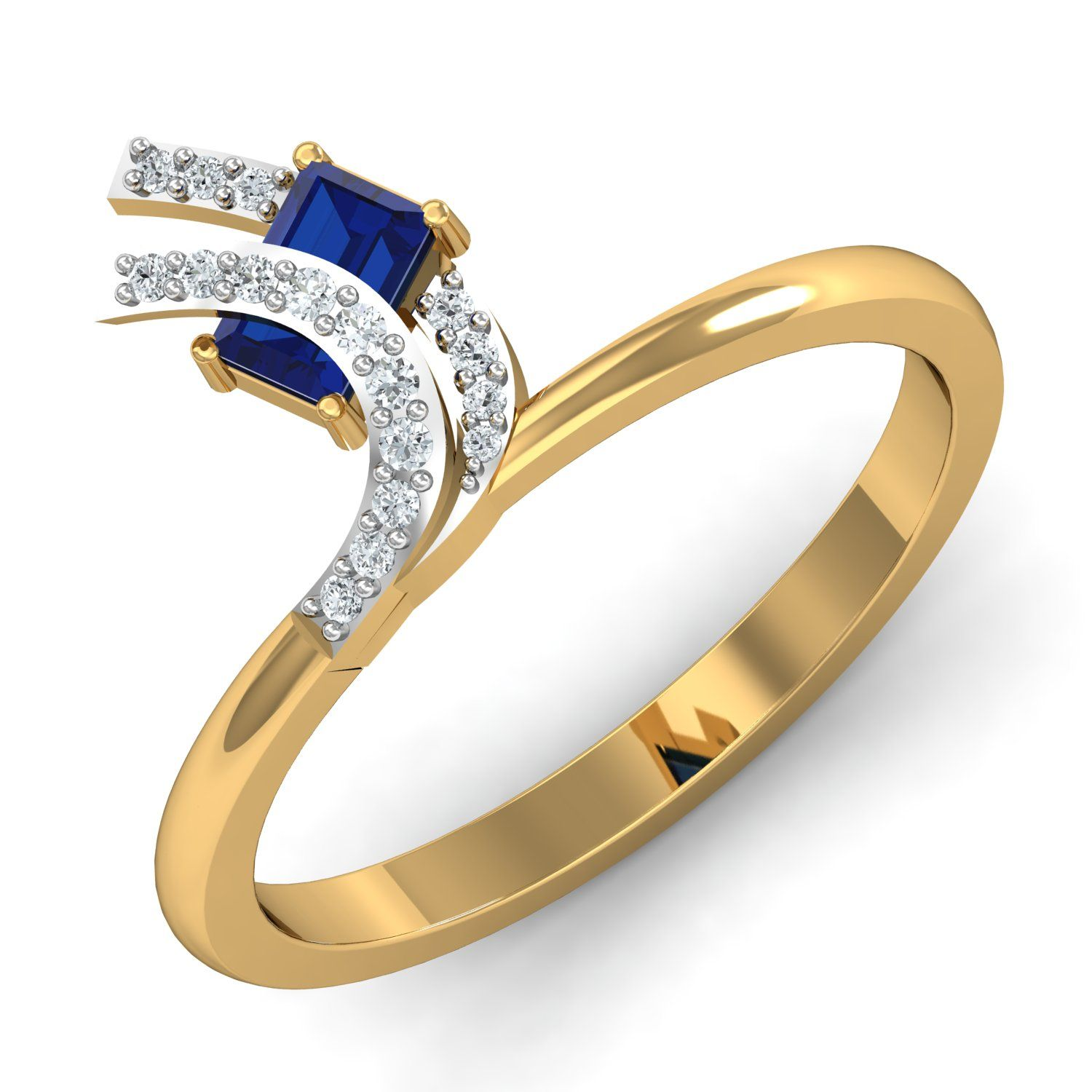 n gopaldas jewellers offers fancy diamond ring with blue colour
