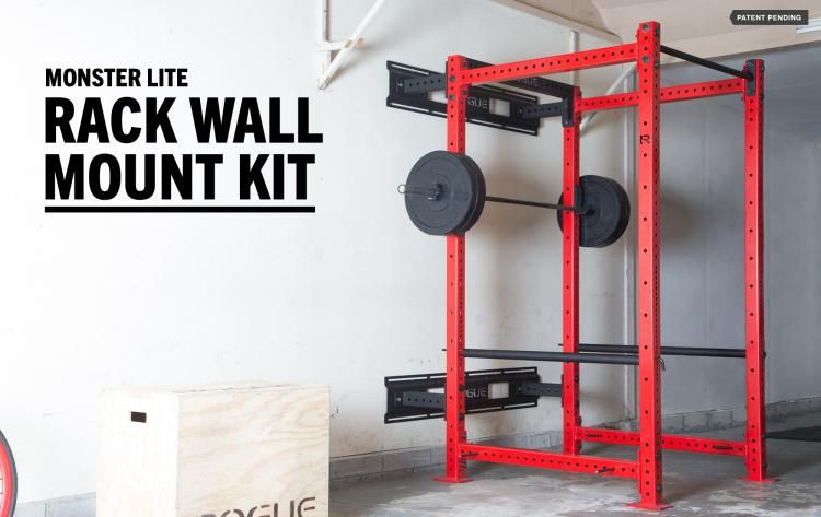 Monster Lite Rack Wall Mount Kit 200 Rogue Fitness Wall Mount Rack Wall
