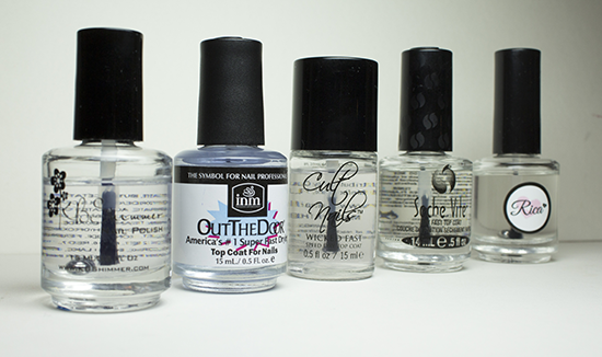 Top Coat Comparison Rica Kbshimmer Seche Cult Nails And Inm