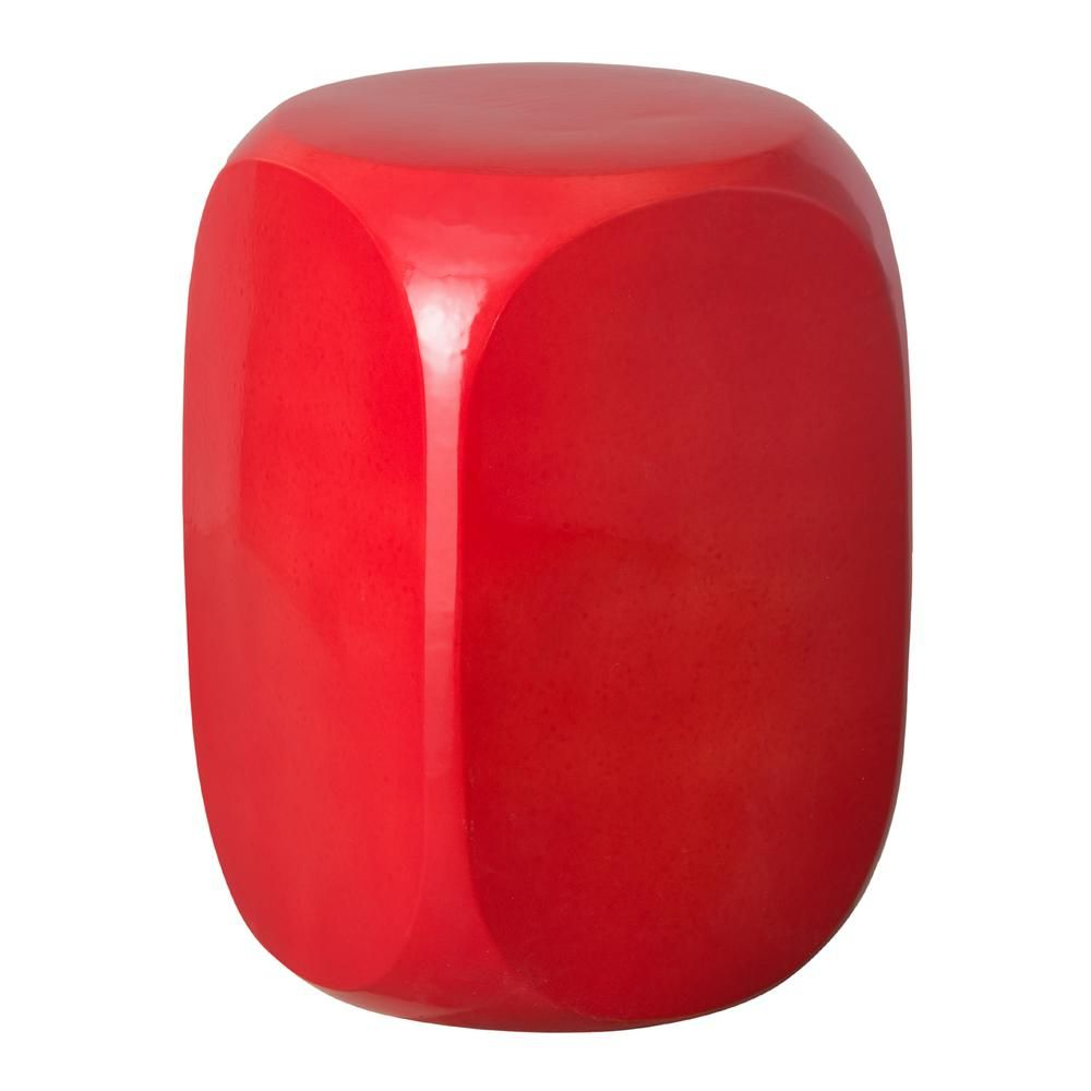Awe Inspiring Emissary Large Coral Dice Ceramic Garden Stool In 2019 Machost Co Dining Chair Design Ideas Machostcouk